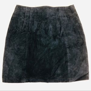 Express Womens Navy Blue Leather Skirt Size 13/14